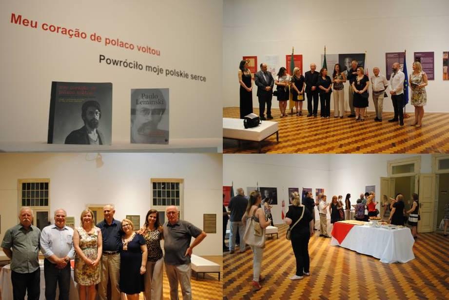 (Abertura da exposição em Porto Alegre-RS)