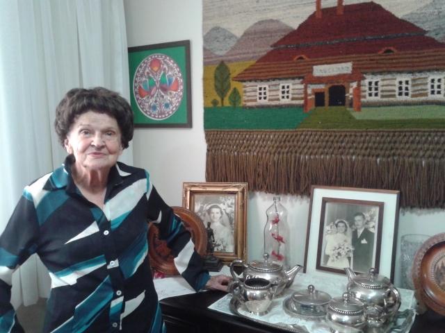 (Pani Emilia Piaskowski w domu. Fot. Meg Mamede)