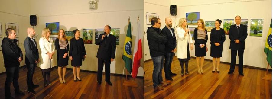 Sr. Marek Makowiski e Sra Schirlei Mari Freder fazendo a abertura oficila do evento - Fotos: CCPB)