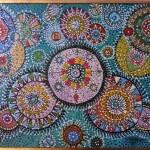 """(""""Cabala"""", óleo sobre tela em pontilhismo - 88x66, ano 1964)"""