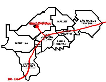 Mapa de Cruz Machado