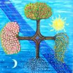"""(Obra """"4 Pory Roku"""", óleo sobre tela de Everly Giller)"""