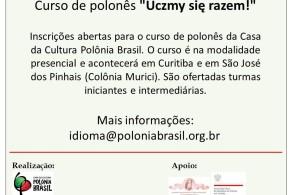 Matrículas abertas para novas turmas do idioma polonês