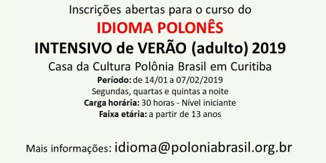 (Português) Curso intensivo de verão – Idioma Polonês