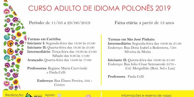 (Português) Novas turmas semestrais do idioma polonês: matrículas abertas!