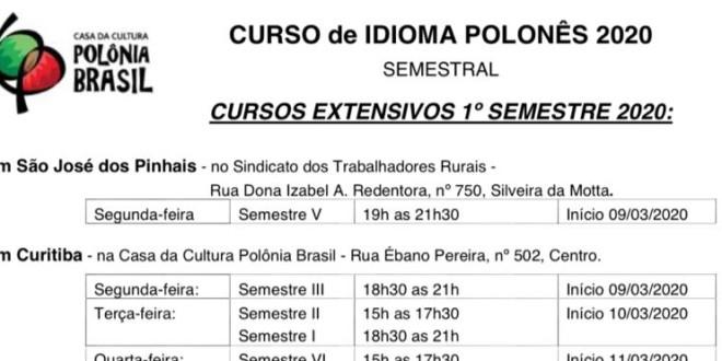 (Português) Inscrições abertas para o curso extensivo do ano 2020