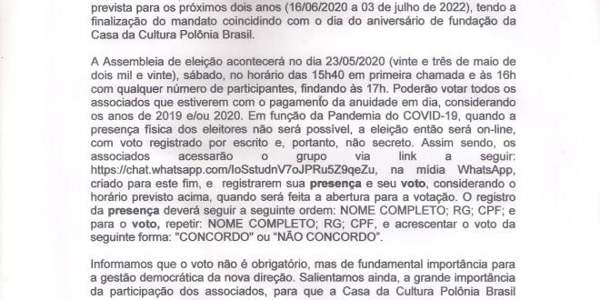 (Português) CONVOCAÇÃO ASSEMBLEIA GERAL ORDINÁRIA