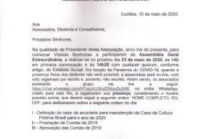 (Português) EDITAL DE CONVOCAÇÃO ASSEMBLEIA GERAL EXTRAORDINÁRIA
